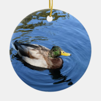 Central Park NYC Conservatory Water Mallard Duck Ceramic Ornament