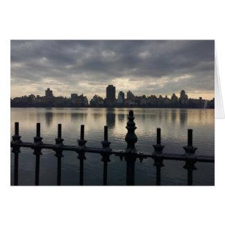 Central Park Reservoir New York City Skyline NYC Card