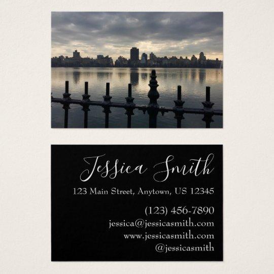 Central Park Reservoir New York City Sunrise NYC Business Card