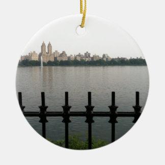 Central Park Reservoir NYC New York City Manhattan Ceramic Ornament