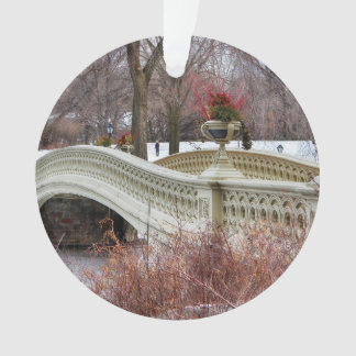 Central Park's Bow Bridge Photo Ornament