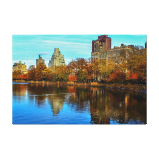 Central Park Skyline in Autumn Canvas Print