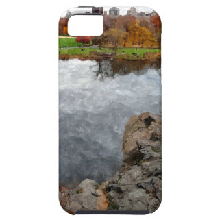 Central Park Watercolor iPhone 5 Cases