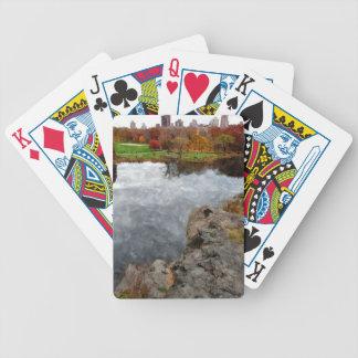 Central Park Watercolor Poker Deck