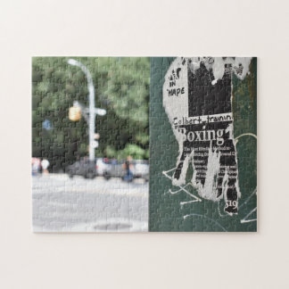 Central Park West NYC Boxing Flyer Photography Jigsaw Puzzle