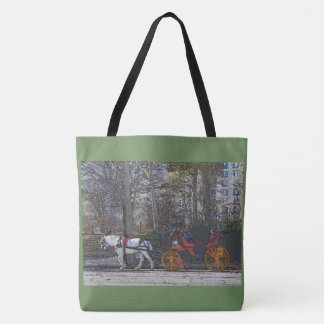 Central Park Winter/horse n'carriage Tote Bag