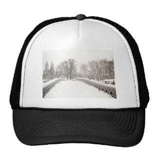 Central Park Winter Romance - Bow Bridge Cap