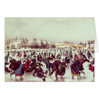 Central Park, Winter: The Skating Carnival Cards