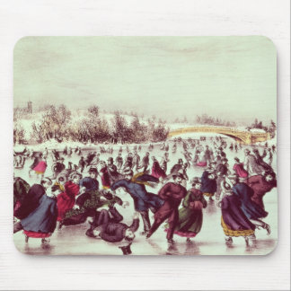 Central Park, Winter: The Skating Carnival Mouse Pads