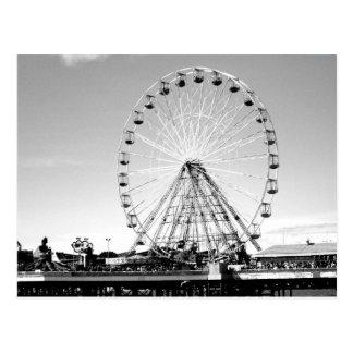 Central pier, Blackpool B/W Postcard
