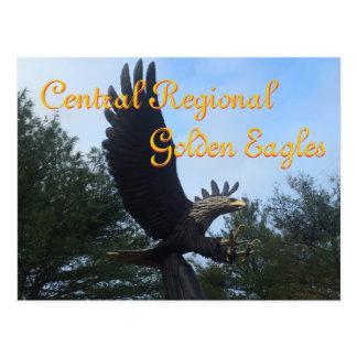 Central Regional Golden Eagles High School Postcard