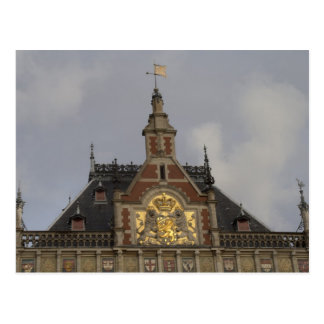 Central Station, Amsterdam Postcard