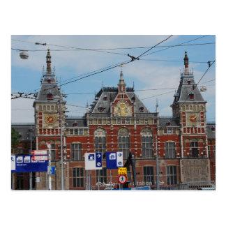 Central Station Amsterdam Postcard