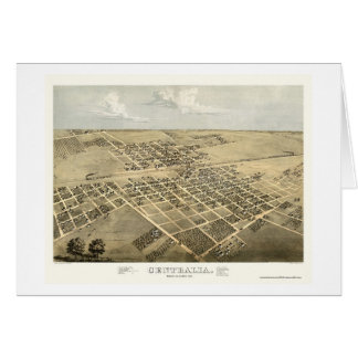 Centralia, IL Panoramic Map - 1867 Card