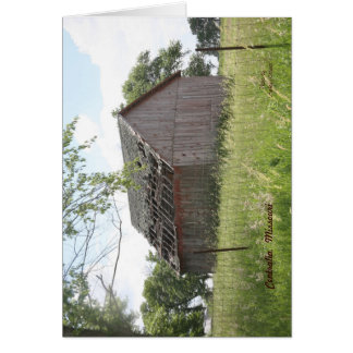 Centralia Missouri Barn Card