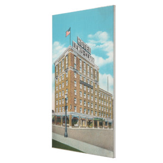 Centralia, WA - View of Hotel Lewis-Clark Canvas Print