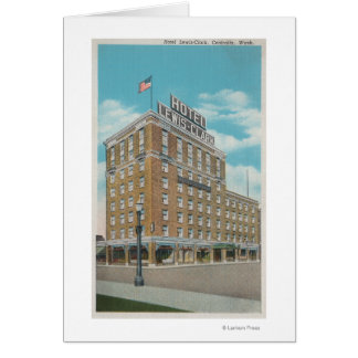 Centralia, WA - View of Hotel Lewis-Clark Card
