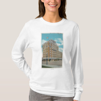 Centralia, WA - View of Hotel Lewis-Clark T-Shirt