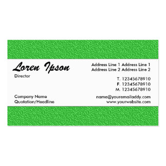 Centre Band 019 - Green Embossed Texture Pack Of Standard Business Cards