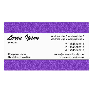 Centre Band 020 - Violet Embossed Texture Pack Of Standard Business Cards