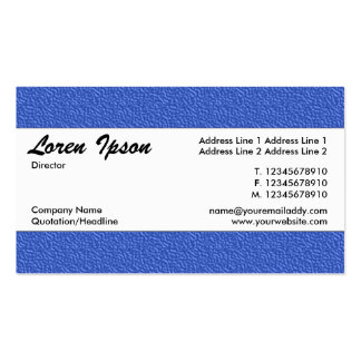 Centre Band 022 - Blue Embossed Texture Pack Of Standard Business Cards