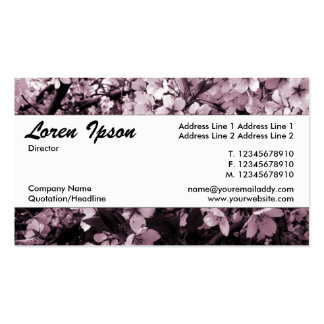 Centre Band 035 - Cherry Blossom Pack Of Standard Business Cards