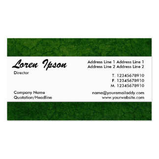 Centre Band 08 - Green Earth Texture Pack Of Standard Business Cards