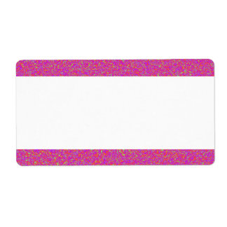 Centre Band - Colour Marbling Shipping Label