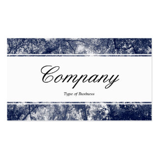 Centre Band (edged) - Blue Autumn Business Card Template