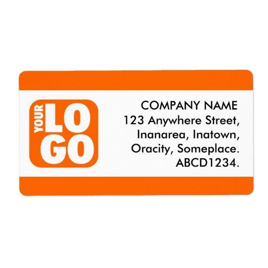 Centre Band - Orange Shipping Label