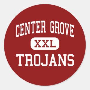 Centre Grove - Trojans - High - Greenwood Indiana Classic Round Sticker