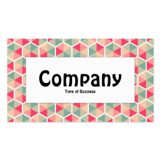 Centre Label - Hexagon Pattern 04 Pack Of Standard Business Cards