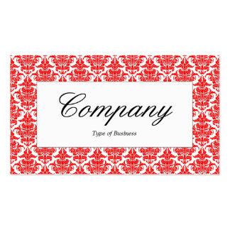 Centre Label - Red Damask Pack Of Standard Business Cards