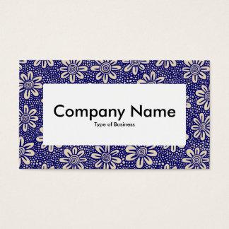 Centre Label v4 - 140617 - Dk Blue and Beige Business Card