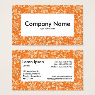 Centre Label v4 - 140617 - Orange and Beige Business Card
