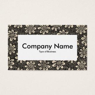 Centre Label v4 - Pattern 140617 - Black and Beige Business Card
