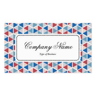Centre Label v5 - Hexagon Pattern 05 Pack Of Standard Business Cards