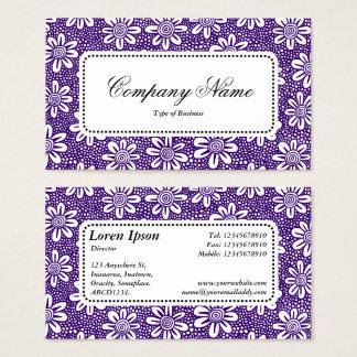 Centre Label v5 - Pattern 140617 - Dp Purple Business Card