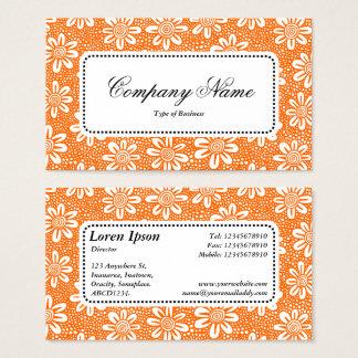 Centre Label v5 - Pattern 140617 - Orange Business Card