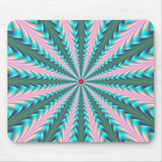 Centre Point in Pink and Blue Mousepad
