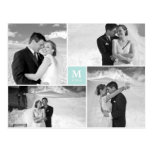 Centre Square Monogram Wedding Thank You Photo