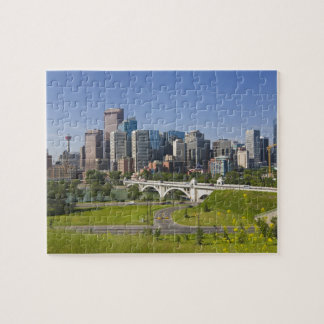 Centre St Bridge and Downtown Calgary, Alberta, Jigsaw Puzzle