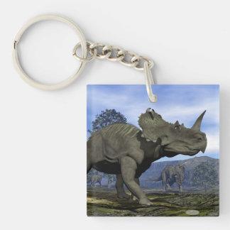 Centrosaurus dinosaurs - 3D render Key Ring