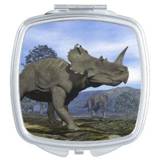 Centrosaurus dinosaurs - 3D render Vanity Mirrors