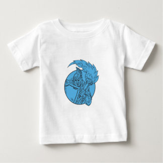 Centurion Soldier Torch Circle Drawing Baby T-Shirt