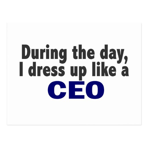 CEO During The Day Postcards