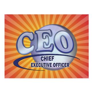 CEO LOGO BLUE CHIEF EXECUTIVE OFFICER POSTCARD