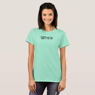 CEO of Me Mint / Black Logo Tshirt Women's Fit