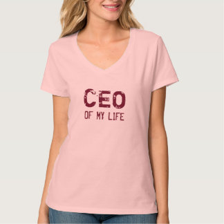 CEO OF MY LIFE plum Tees