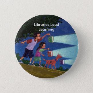 Cepeda medium res, Libraries Lead Learning 6 Cm Round Badge